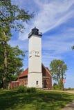 Luz de la isla de Presque en el parque de estado en Erie, Pennsylvania fotos de archivo
