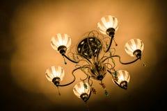Luz de la lámpara Fotografía de archivo