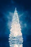 Luz de la lámpara del árbol de navidad con la reflexión Fotos de archivo