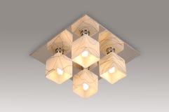 Luz de la lámpara del techo Imágenes de archivo libres de regalías