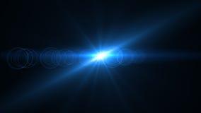 Luz de la llamarada de la lente sobre fondo negro Fácil añadir la capa Foto de archivo libre de regalías