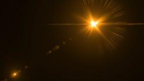 Luz de la llamarada de la lente sobre fondo negro Fácil añadir la capa o s Libre Illustration