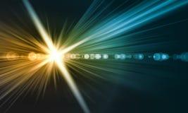 Luz de la loma ilustración del vector