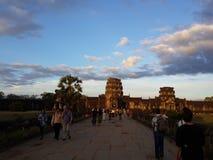 Luz de la mañana en Angkor Wat Imagenes de archivo