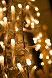 Luz de la Navidad Fotografía de archivo