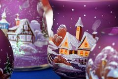 Luz de la Navidad Foto de archivo