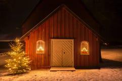 Luz de la Navidad Foto de archivo libre de regalías