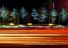 Luz de la noche Foto de archivo