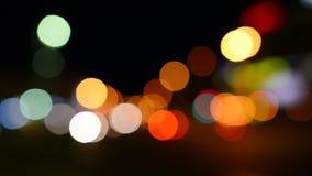 Luz de la noche almacen de video