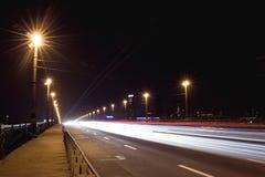 Luz de la noche Fotografía de archivo libre de regalías