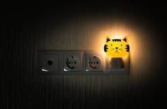 Luz de la noche del bebé Foto de archivo libre de regalías