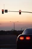 Luz de la parada de las luces de la cola del coche de deportes Imágenes de archivo libres de regalías