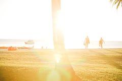 Luz de la puesta del sol Foto de archivo libre de regalías