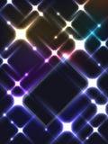 Luz de la tarjeta de la galaxia Fotos de archivo libres de regalías