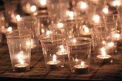 Luz de la vela Fotos de archivo libres de regalías