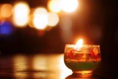 Luz de la vela fotografía de archivo