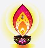 Luz de la vela de Diwali Imágenes de archivo libres de regalías