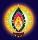 Luz de la vela de Diwali Fotografía de archivo libre de regalías
