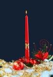 Luz de la vela de la Navidad Fotos de archivo libres de regalías