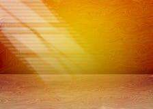 Luz de la ventana en una pared del sitio stock de ilustración
