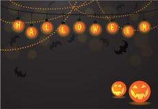 Luz de las bolas de Halloween libre illustration