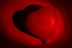 Luz de las tarjetas del día de San Valentín Imagenes de archivo