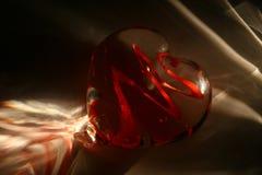 Luz de las tarjetas del día de San Valentín Fotos de archivo libres de regalías