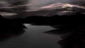 luz de lua do lago imagem de stock royalty free