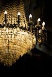 Luz de lujo de la lámpara cristalina del vintage como parte del encanto rico Fotografía de archivo