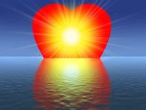 A luz de meu coração Fotografia de Stock