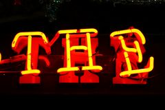 A luz de néon fotografia de stock
