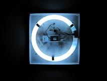 Luz de néon circular imagens de stock