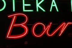 Luz de néon da Varsóvia velha Imagem de Stock Royalty Free