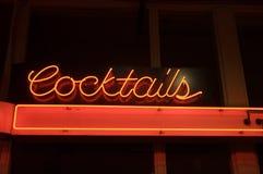 Luz de néon do cocktail foto de stock royalty free