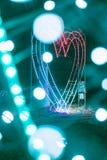 Luz de néon em um parque fotos de stock