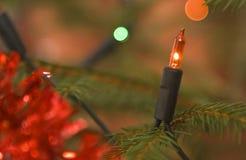 Luz de Natal Fotografia de Stock Royalty Free