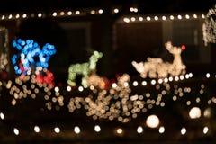 Luz de Natal do fundo do borrão Imagem de Stock