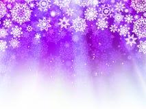 Luz de Natal - fundo roxo. EPS 8 Imagens de Stock