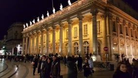 Luz de Natal Grande Teatro de Bordéus França Imagens de Stock Royalty Free