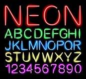 Luz de neón de la fuente ilustración del vector