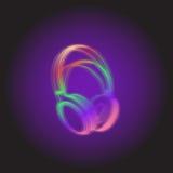 Luz de neón de los auriculares Imagenes de archivo