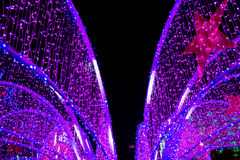 Luz de neón en Año Nuevo Imágenes de archivo libres de regalías