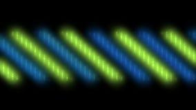luz de neón de la raya del color 4k, fondo de la música del vj de la etapa stock de ilustración