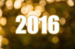 Luz de oro de la falta de definición de la Feliz Año Nuevo Fotos de archivo libres de regalías