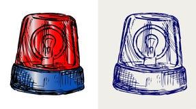 Luz de piscamento. Estilo do Doodle Fotos de Stock