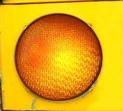 Luz de precaución amarilla grande Imagenes de archivo
