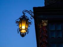 Luz de rua antiga em Aix-la-Chapelle Foto de Stock Royalty Free