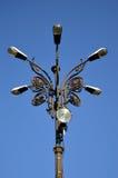 Luz de rua de Bucareste, Romênia Imagem de Stock Royalty Free