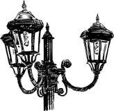 Luz de rua do vintage ilustração royalty free