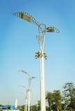 luz de rua moderna, dispositivo bonde claro da estrada decorativa, lâmpada de rua, lâmpada da estrada Fotos de Stock Royalty Free